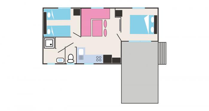 Grundriss der Unterkunft