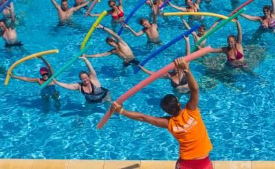 aquagym et piscine au camping de portiragnes